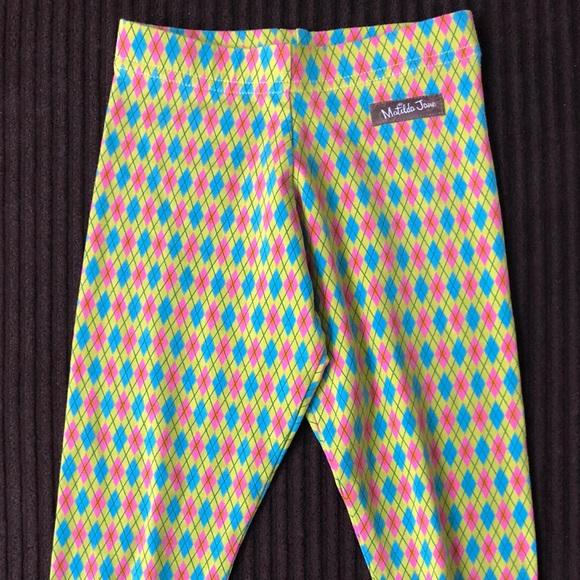 854f995a43b2 Matilda Jane Emerald Argyle Leggings With Ruffles.  M 5bd60f07c9bf50cac9ac10ea